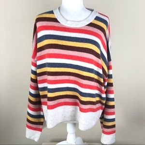 MADEWELL Striped Cardiff Sweater Bell Sleeve XL